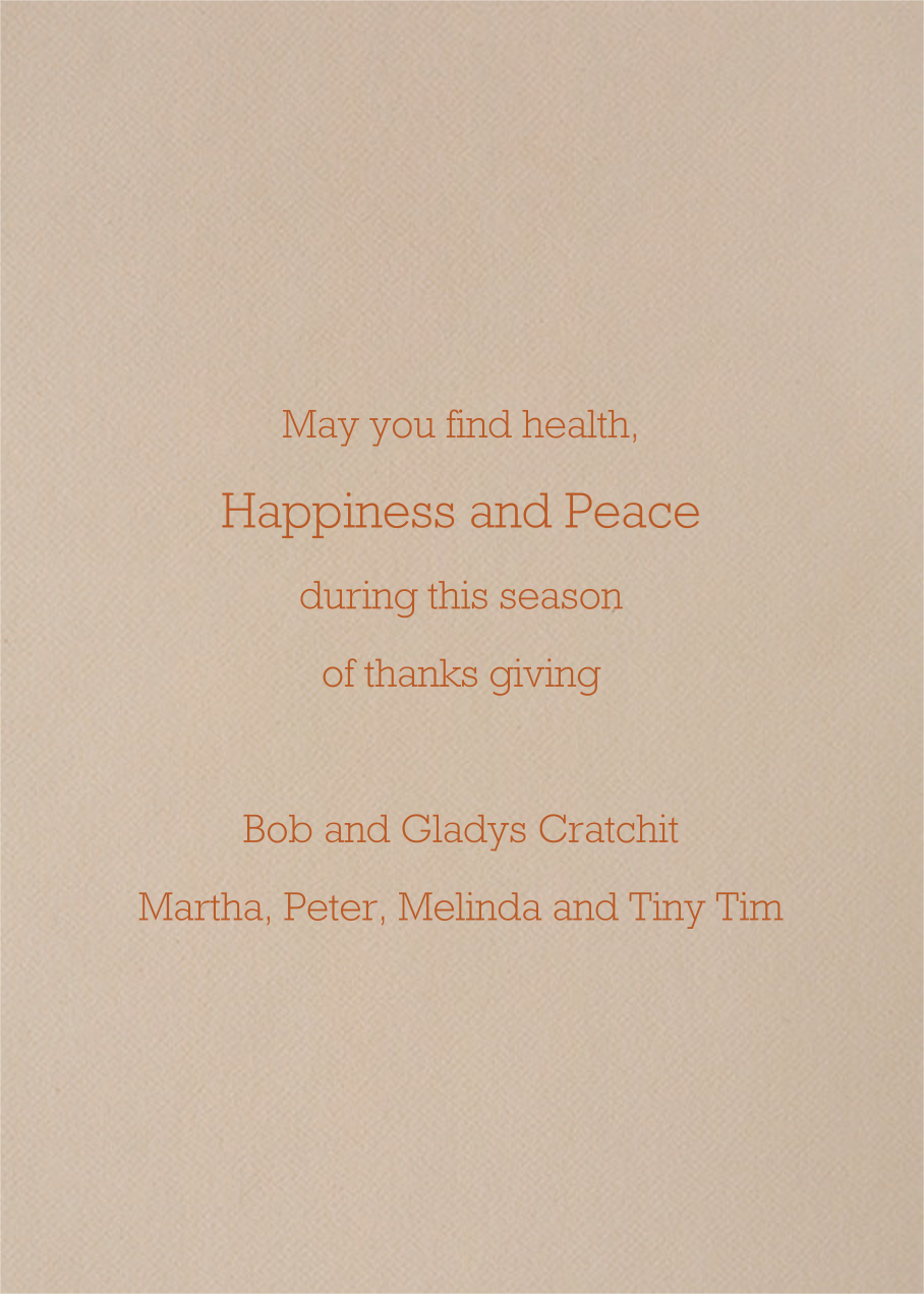 Dinner is Served - Paperless Post - Thanksgiving - card back