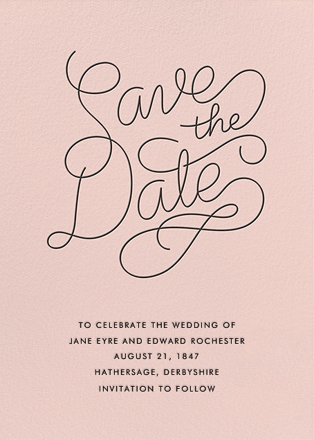 Bobbin (Save the Date) - Meringue - Paperless Post - Save the date