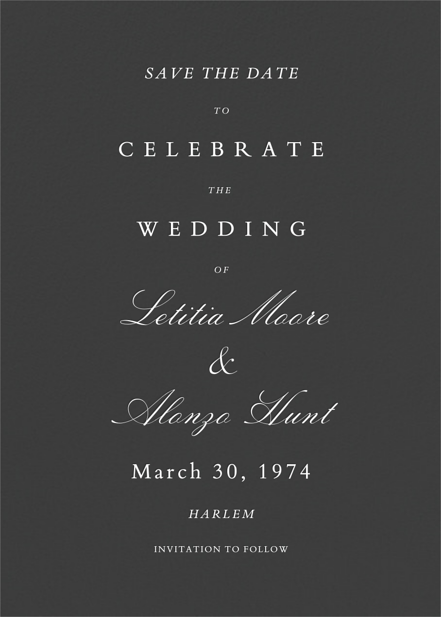 Specimen - Slate - Paperless Post - Save the date