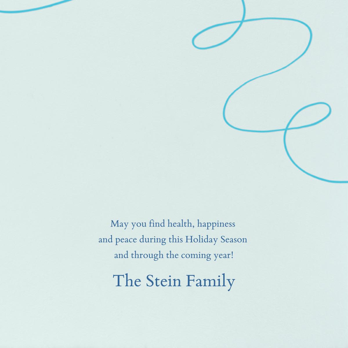 Dreidel - Paperless Post - Hanukkah - card back