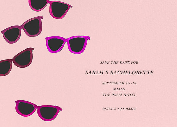 Sunglasses - Linda and Harriett - Bachelorette party