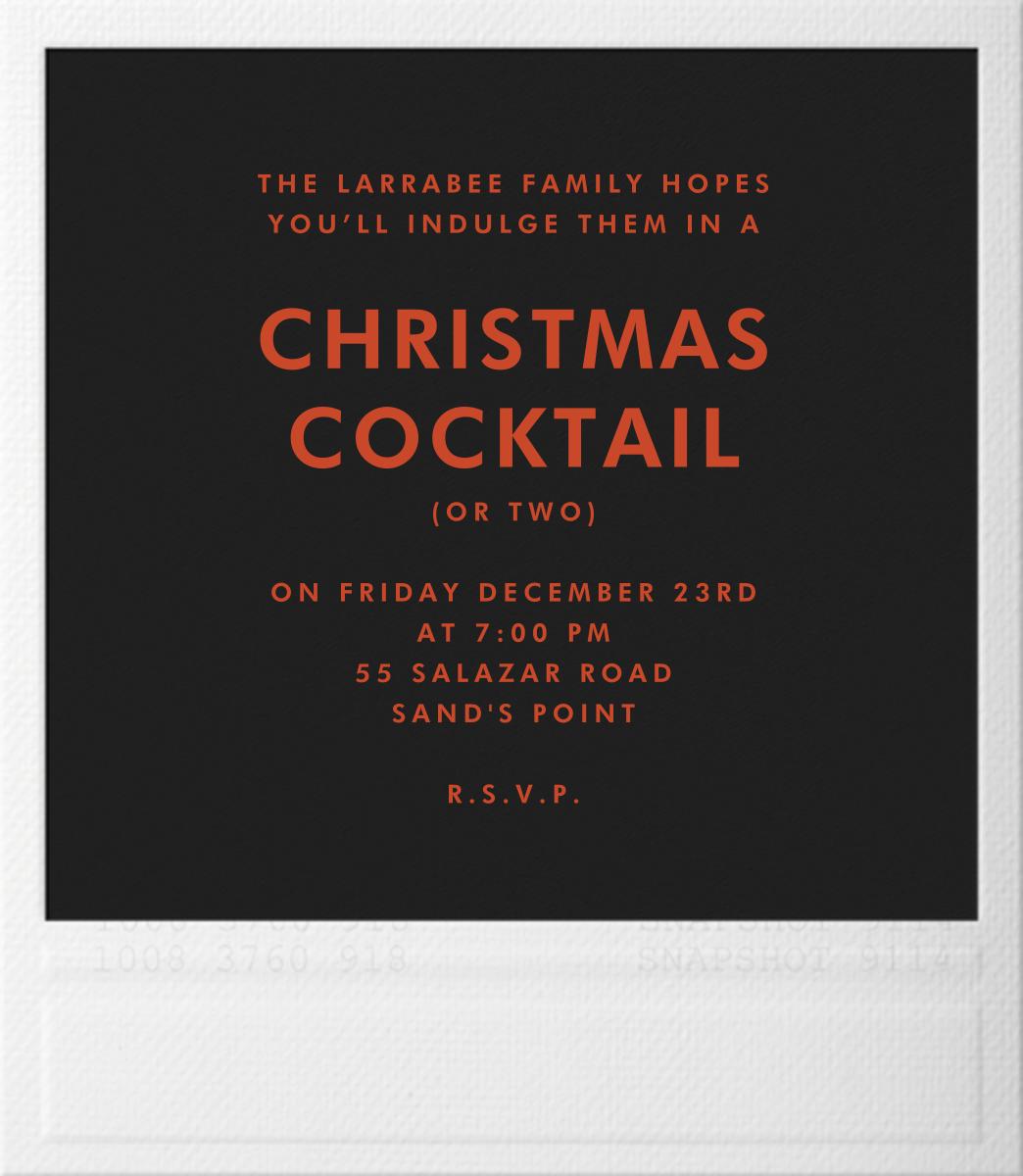 Snapshot - Reindeer - Paperless Post - Christmas party - card back