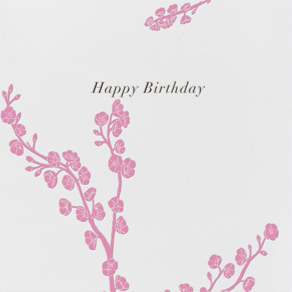 Cherry Blossoms - Paperless Post - Birthday