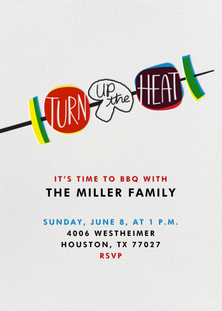 Turn Up The Heat - Crate & Barrel - Wine tasting invitations