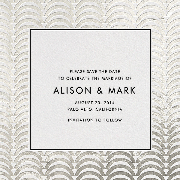 Arches - Silver - Jonathan Adler - Save the date