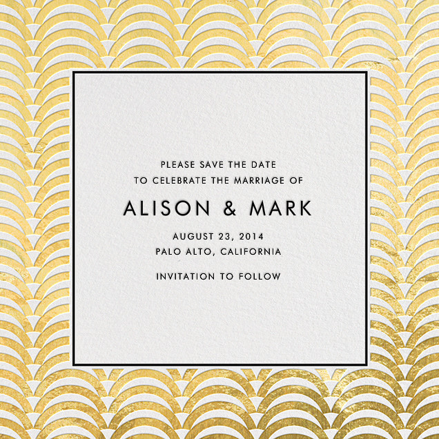 Arches - Gold - Jonathan Adler - Party save the dates