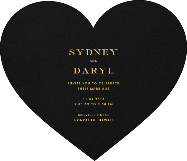 Black and Gold Heart - kate spade new york - null