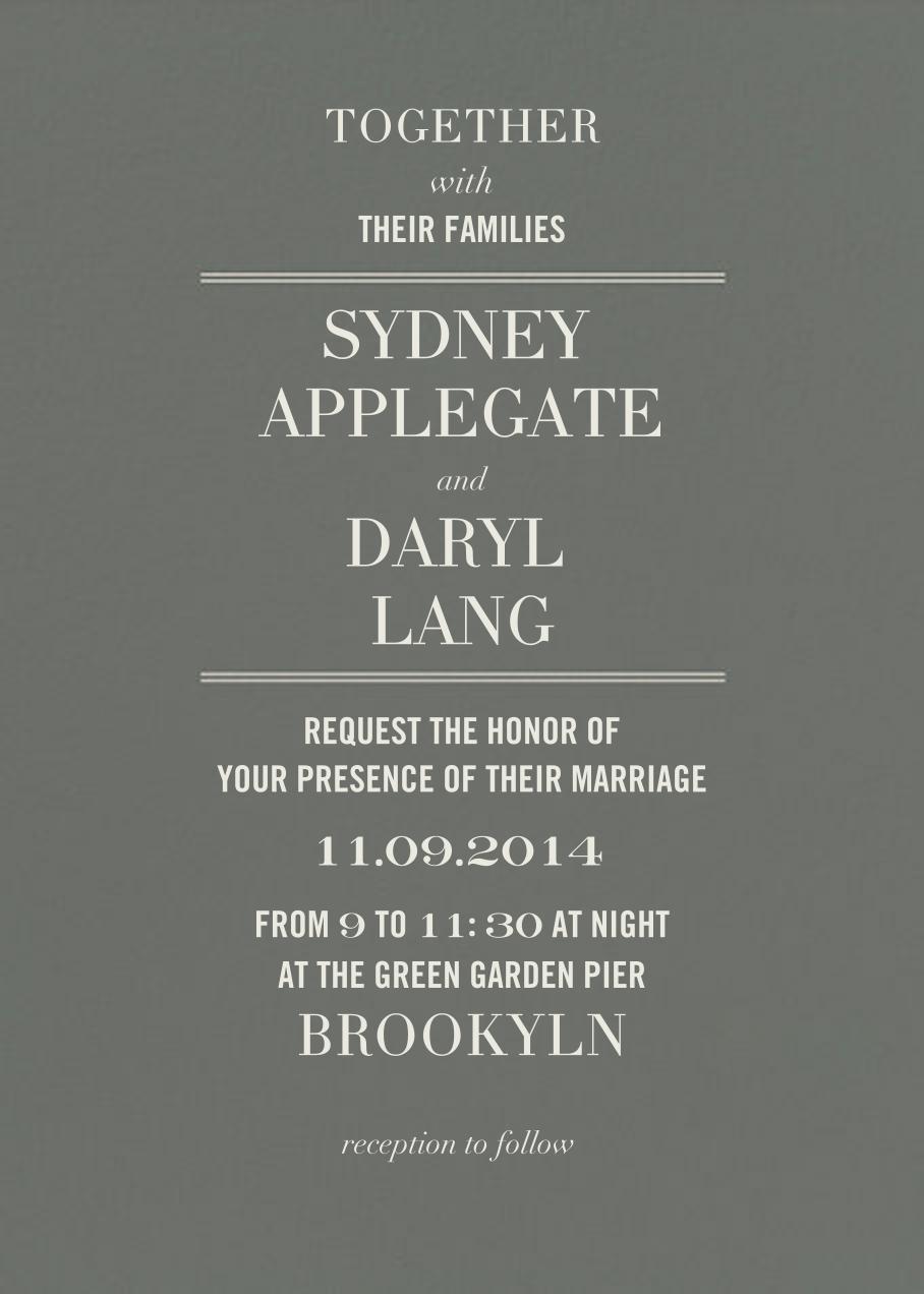 Typographic II (Invitation) - Gray - kate spade new york - All