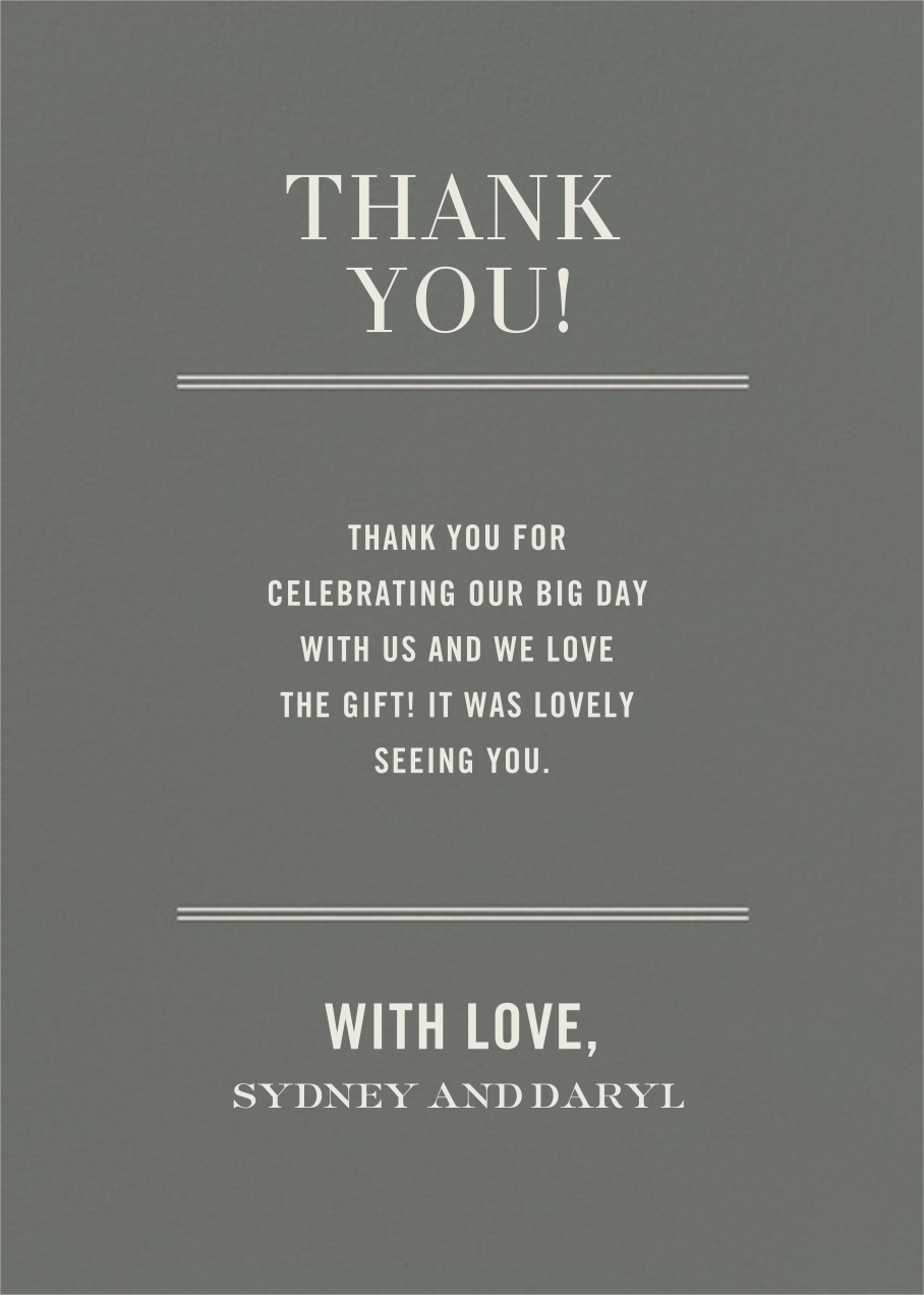Typographic II (Stationery) - Gray - kate spade new york - General