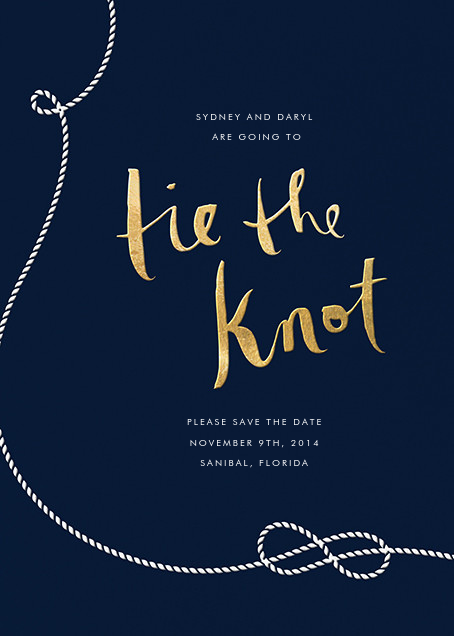 Nautical II (Save the Date) - Gold - kate spade new york - Save the date