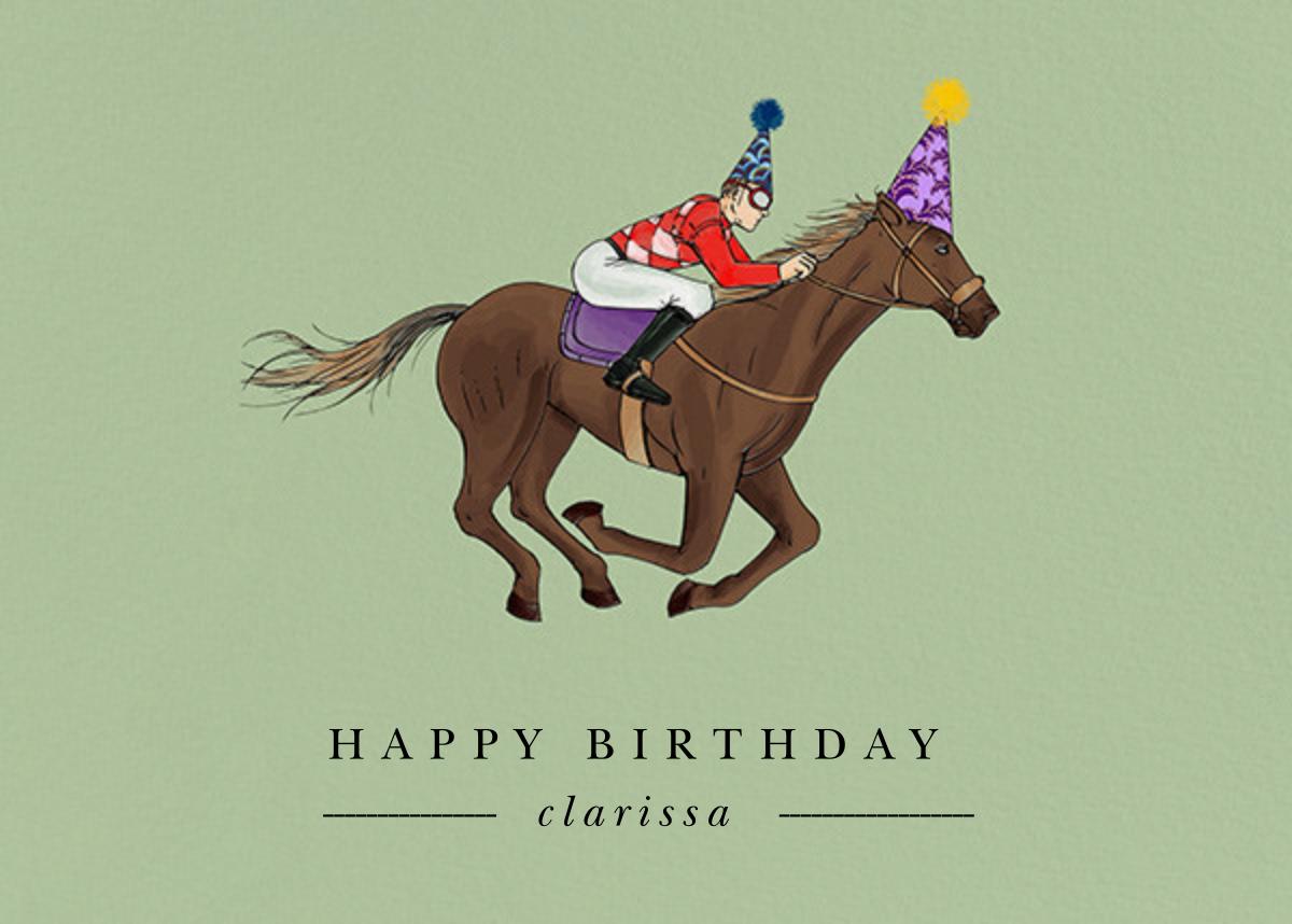 Thoroughbred Birthday  - Paperless Post