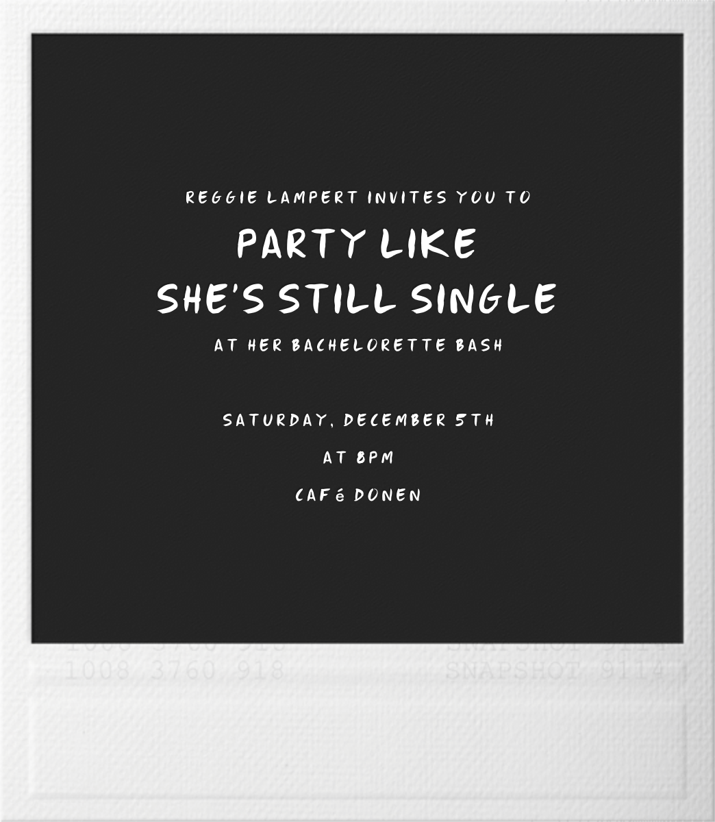 Snapshot - Paperless Post - Bachelorette party - card back
