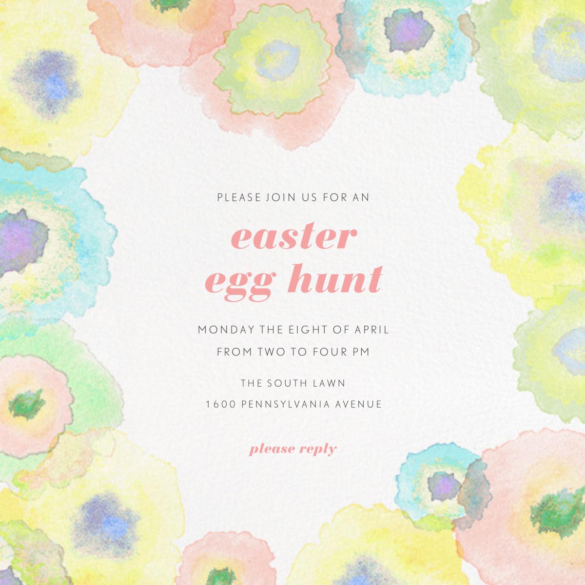 Watercolor Dye - Paperless Post - Easter