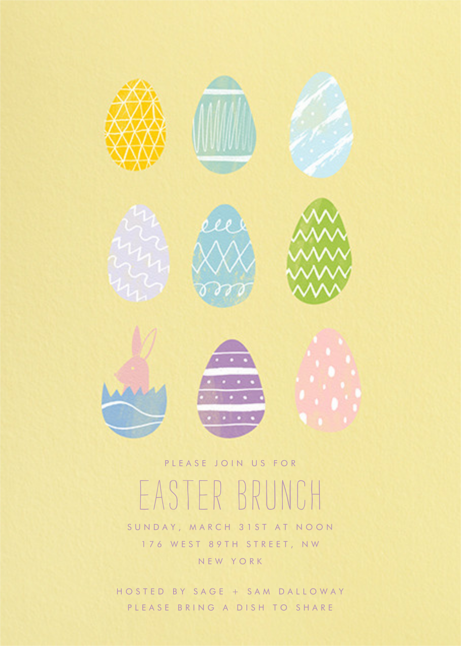 Assorted Eggs - Paperless Post - Easter