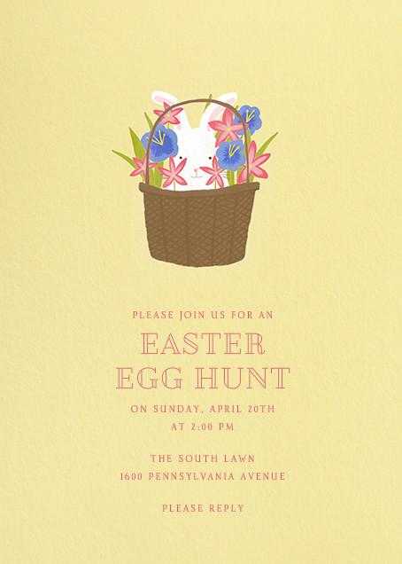 Bunny In The Basket - Paperless Post - Easter