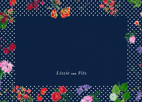 Botanical Dot - Navy (Thank You) - Oscar de la Renta