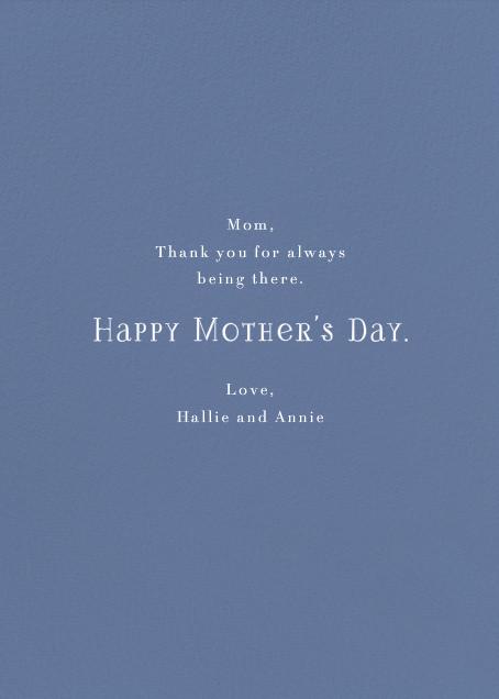 Flower Basket (Yelena Bryksenkova) - Red Cap Cards - Mother's Day - card back