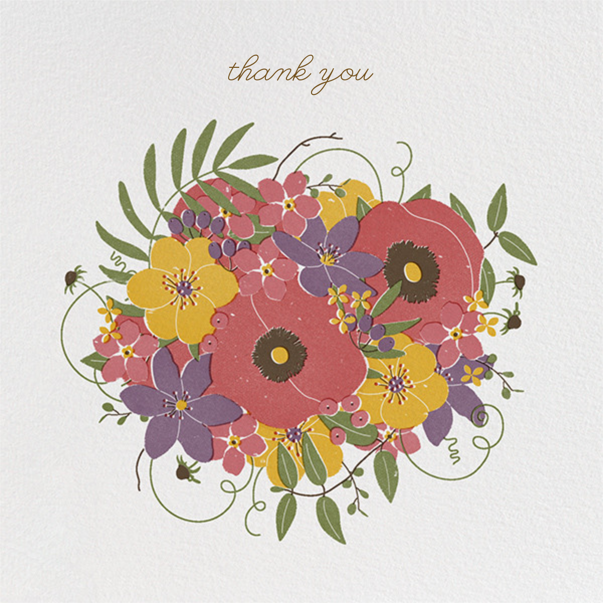 Gathered Bouquet - Paperless Post - Thank you