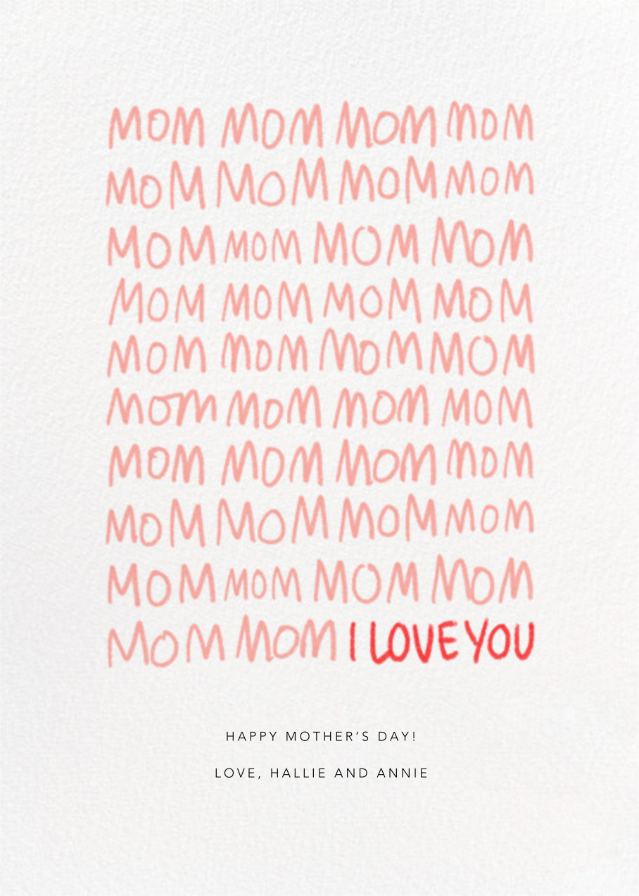 MomMomMom - Paperless Post - Mother's Day