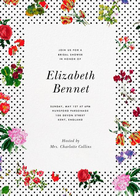 Botanical Dot - White - Oscar de la Renta - Bridal shower