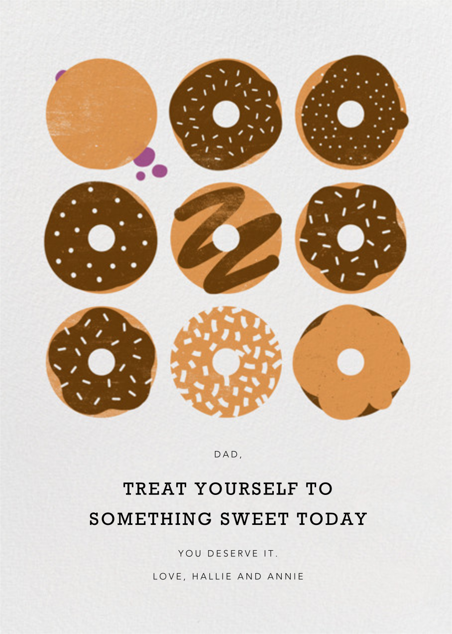 Donuts - Chocolate - Paperless Post - Father's Day