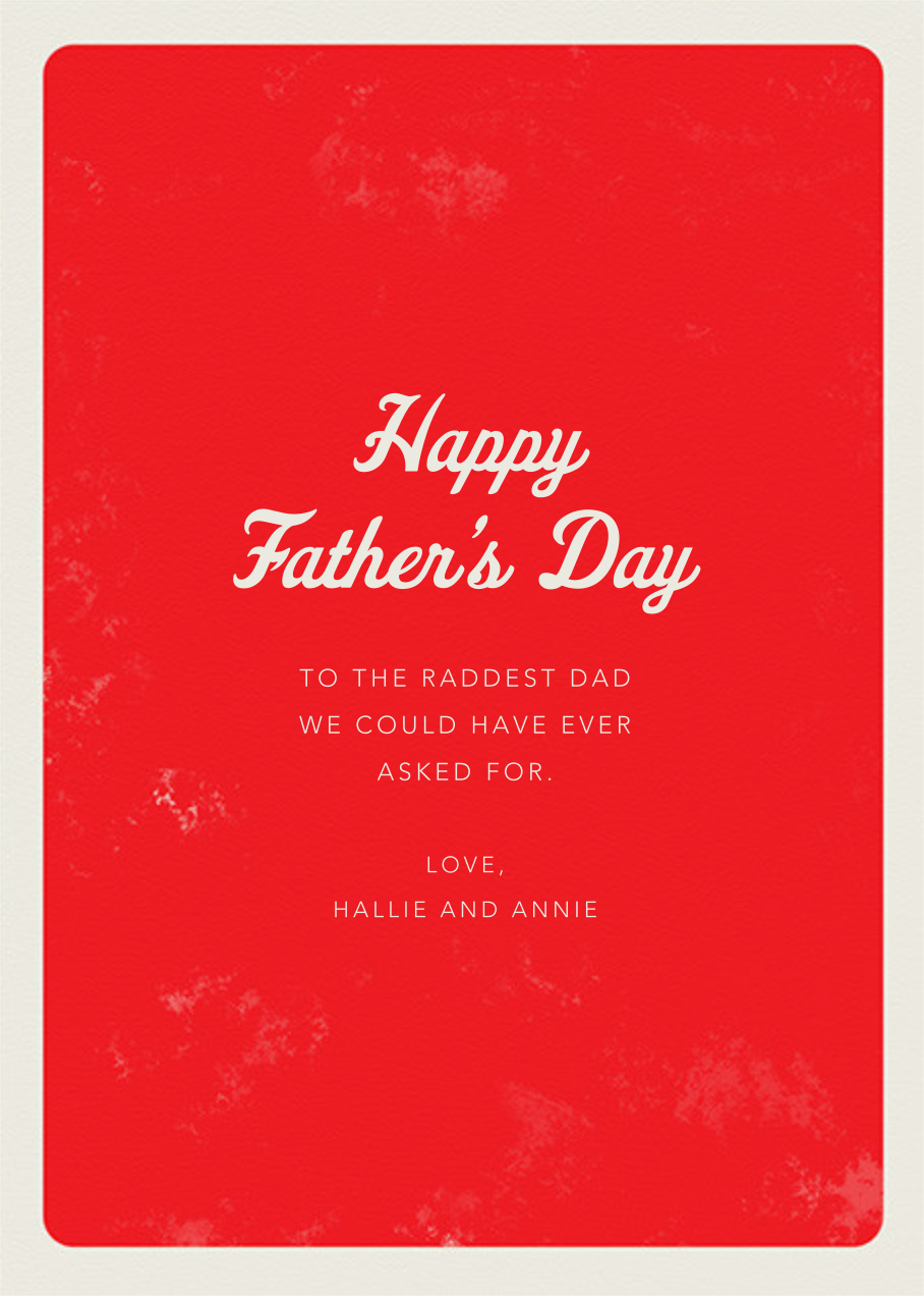 The Best - Paperless Post - Father's Day - card back