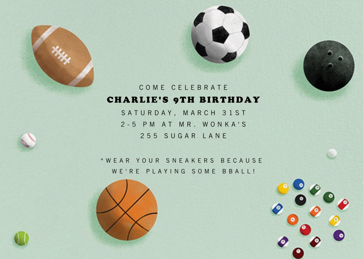 Sports Balls - Paperless Post - Kids' birthday