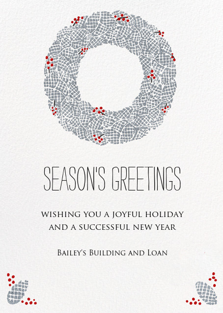 Pinecone Wreath - Paperless Post - Holiday cards