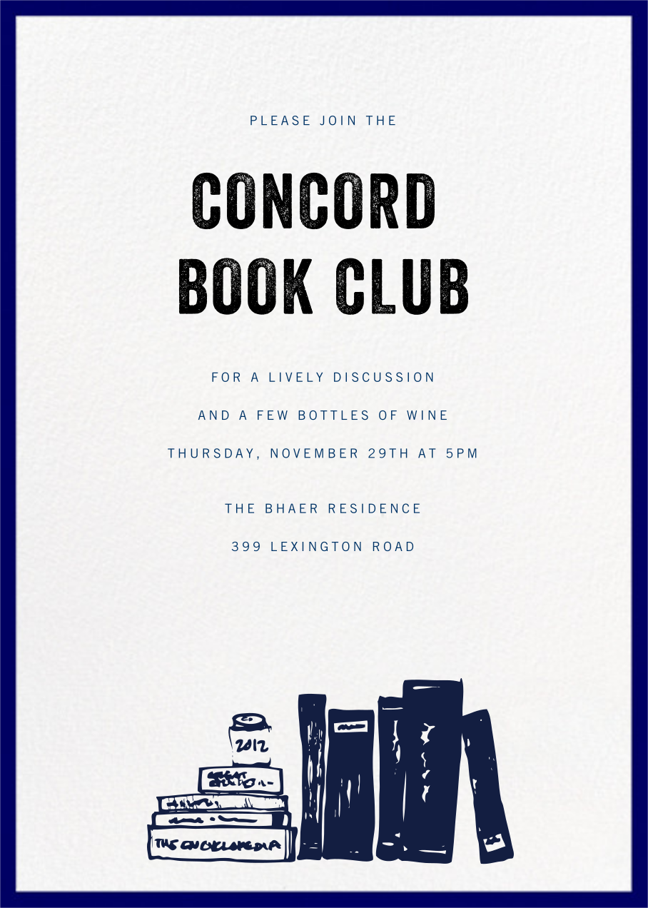 Contorno - Blue - Paperless Post - Book club
