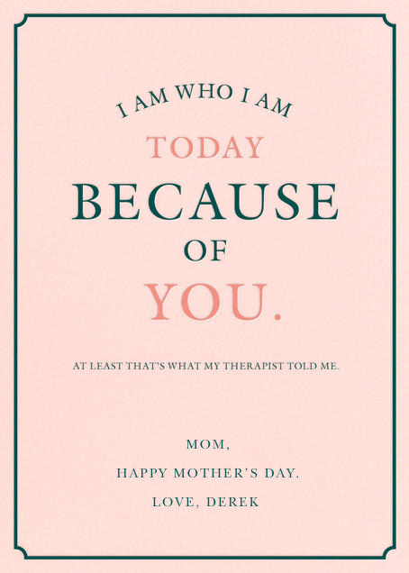 A Therapeutic Mom - Derek Blasberg - Mother's Day