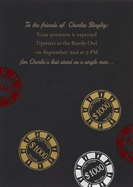 Vegas Bachelor Party - Black - Paperless Post