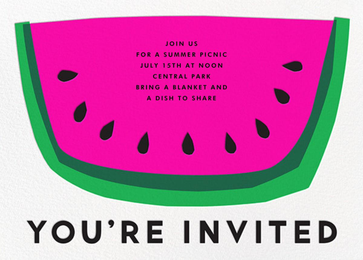 Watermelon Slice - The Indigo Bunting - Picnic