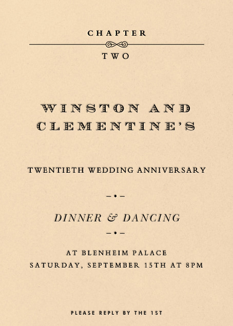 A New Chapter - Paperless Post - Anniversary party