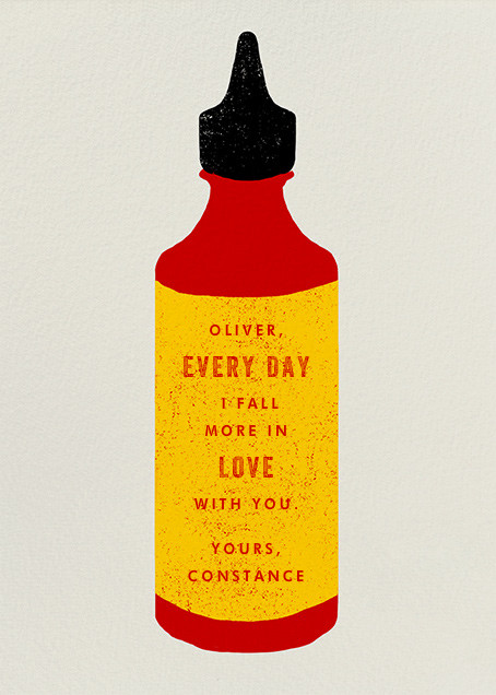 Hot Sauce - Paperless Post - Love and romance - card back