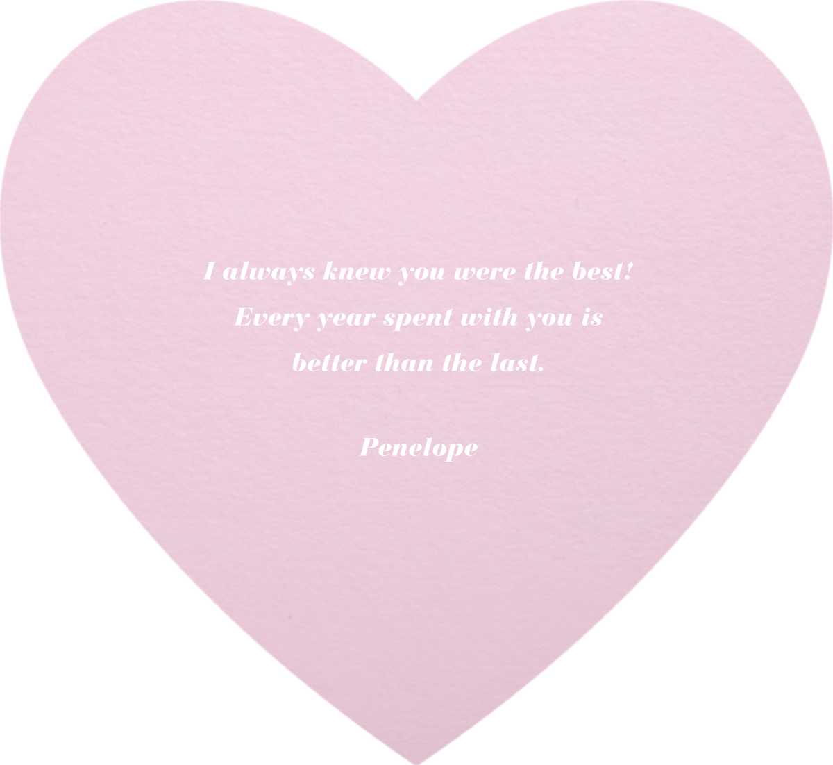 Full Bleed Heart (Pink) - Paperless Post - Love cards - card back