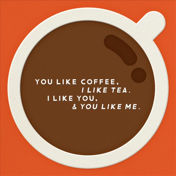 You Like Coffee - The Indigo Bunting - Love cards