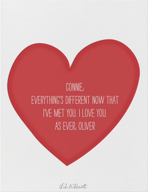 I Heart U - Linda and Harriett - Love cards - card back