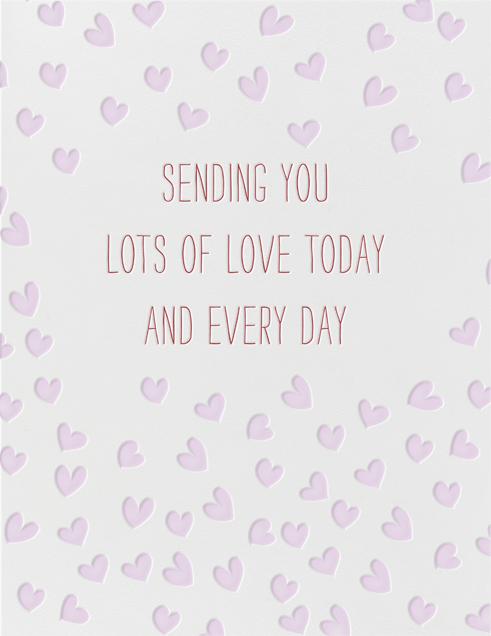 Sending Hearts - Linda and Harriett - Love cards