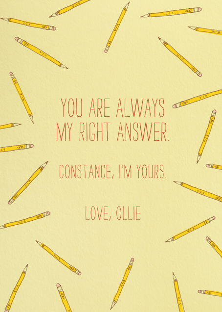Scattered Pencils - Paperless Post - Love cards