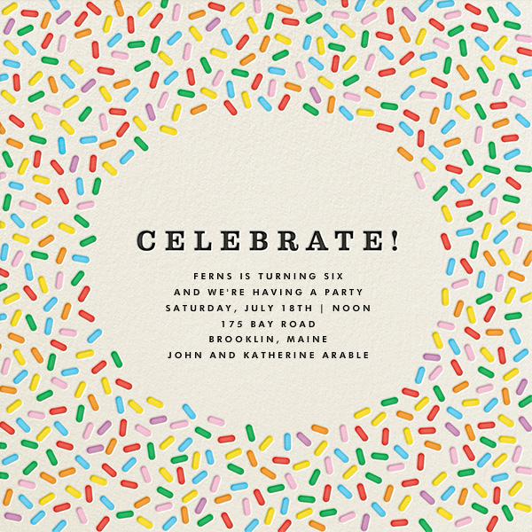 Sprinkles - Celebrate - online at Paperless Post