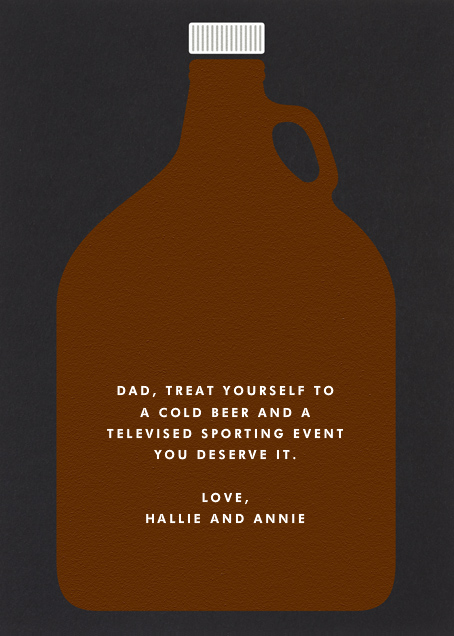 Beer Growler  - The Indigo Bunting - Father's Day - card back