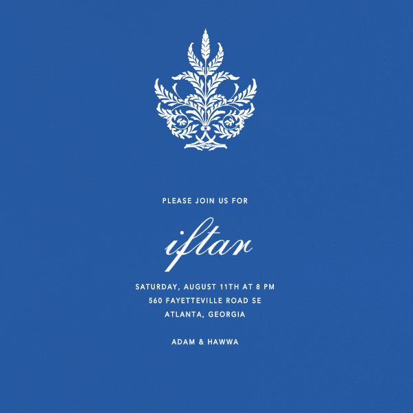 Lapis Lazuli (Square) - Paperless Post - Ramadan