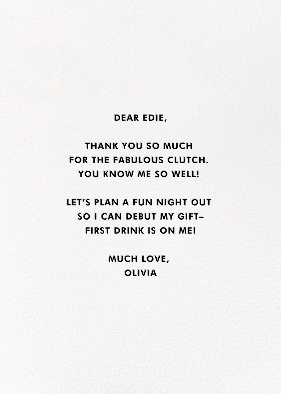 Thanks a Bunch - kate spade new york - Thank you - card back