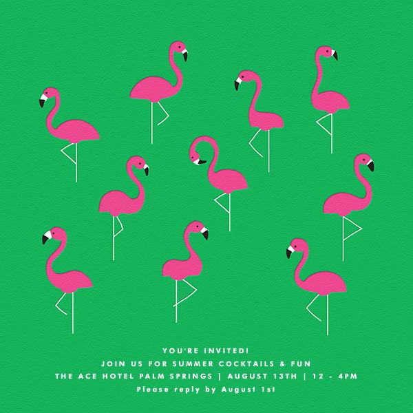 Flamingos - The Indigo Bunting - Summer entertaining