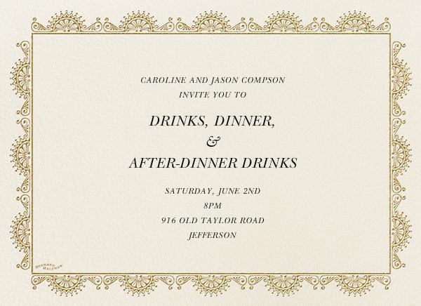 Arch Border - Cream - Bernard Maisner - Cocktail party