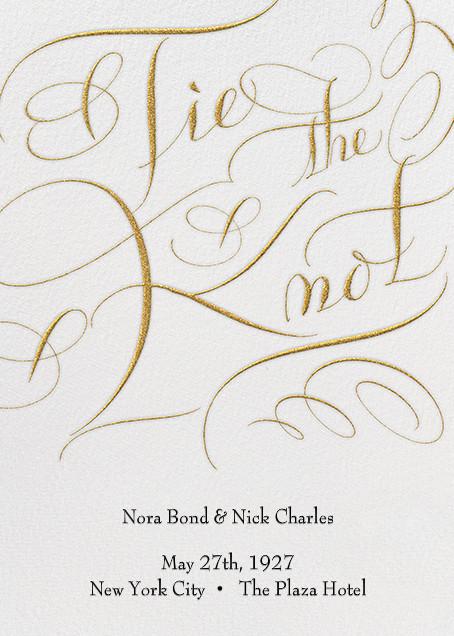 Tie The Knot Script - Ivory - Bernard Maisner - null