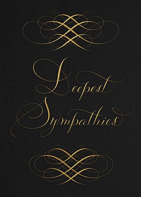 Deepest Sympathies - Black - Bernard Maisner - Sympathy