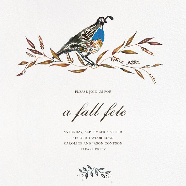 Quail's Tail - Happy Menocal - Dinner party