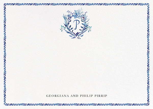 Orleans Family Crest - P - Happy Menocal - Personalized stationery