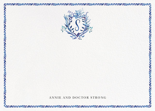 Orleans Family Crest - S - Happy Menocal - Personalized stationery